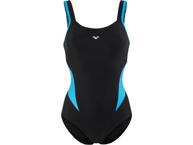 arena Makimurax One Piece Swimsuit Damen black-turquoise